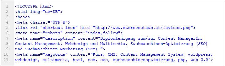 SEO, Suchmaschinenoptimierung und HTML