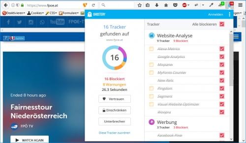 FPÖ: 16 Tracker