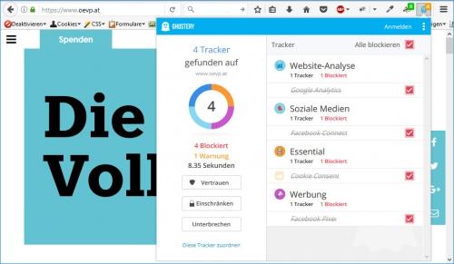 ÖVP: 4 Tracker